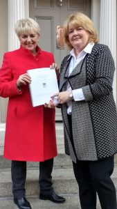 Anne Colgan, Chair of ICP and Jean Manahan, CEO of ICP